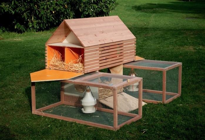 Mobile chicken coop open